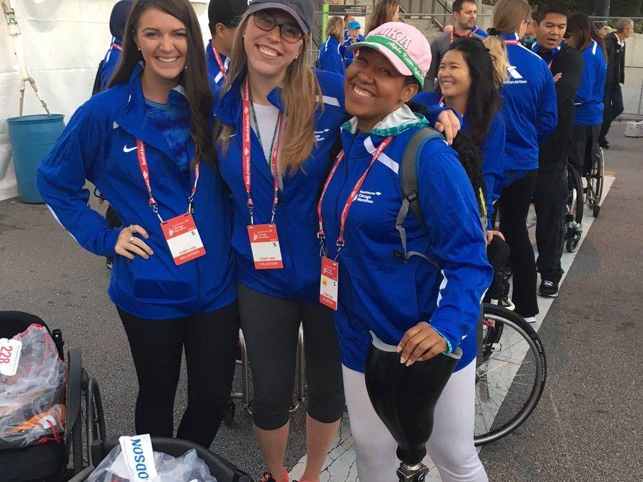 Volunteering at the Chicago Marathon